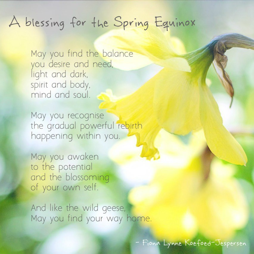 Spring Equinox Blessing - Fiona Lynne
